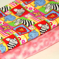 Baby Girl Hourglass Burp Cloth Set of Two Baby Shower Gift Set Reds Pinks