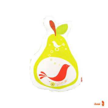 Limited Edition Birdie in a Pear Plush Pillow