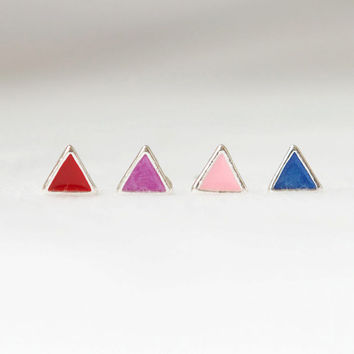 Tiny arrows stud earrings-version 2 / choose your color / Red,Purple,Pink and Blue 4 colors