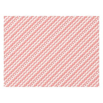 Coral Chevron Table Cloth