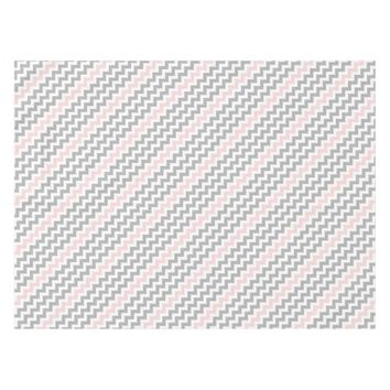 Gray Pink Chevron Table Cloth