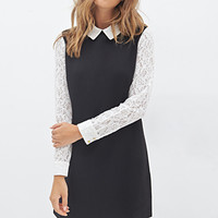 FOREVER 21 Lace Collar Shift Dress