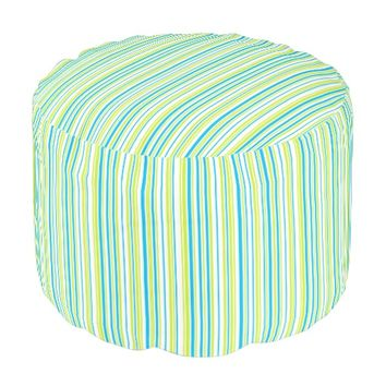 Turquoise blue lime green stripes geometric design