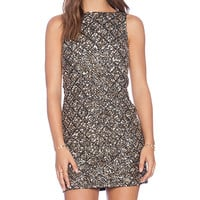 Alice + Olivia McKee Embellished Dress Black & Gunmetal