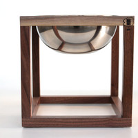 Modern Dog Bowl Holder - Large, One Bowl