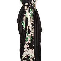Vionnet | Printed stretch silk-satin gown | NET-A-PORTER.COM