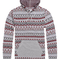 On The Byas Hex Jaquard Hooded Shirt - Mens Shirt - Brown