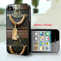 Louis Vuitton Vintage luggage Iphone 4 cell phone accessory case, Iphone case, Iphone 4s case,