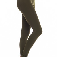 Lovable Leggings, Long Olive