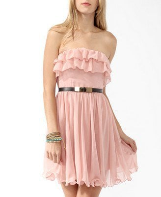 Tiered Ruffled Tube Dress | FOREVER21 - 2000048057