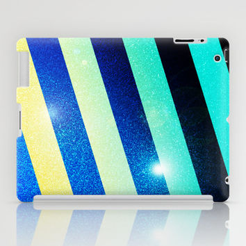 Striped Colorful Glitter iPad Case by Nicklas Gustafsson