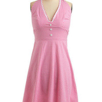 Pink-Me-Up Dress | Mod Retro Vintage Printed Dresses | ModCloth.com
