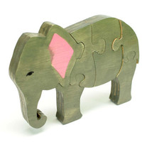 3D Elephant Puzzle - Elephant Room Decor