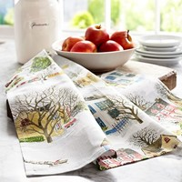 WINTER VILLAGE KITCHEN TOWEL BENEFITING GIVE A LITTLE HOPE CAMPAIGN
