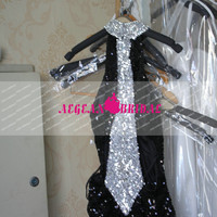 E11 Sexy Black Sequined Evening dress 2014 Rhinestone Beaded Mermaid Prom Dress wedding party dress Engagement Dress Long Evening Dress