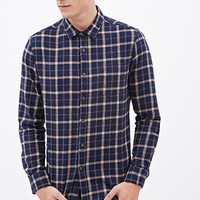Plaid Flannel Shirt Blue/Burgundy