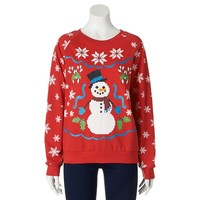 Freeze Snowman Ugly Christmas Sweatshirt - Juniors