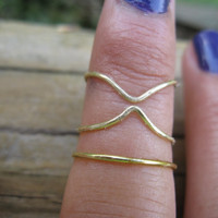 Brass Knuckle Rings Set of 3
