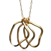 Jennifer Rose Gold Organic Links Pendant Necklace at MYHABIT