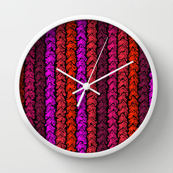 Moroccan Spice Twist Wall Clock by Alice Gosling