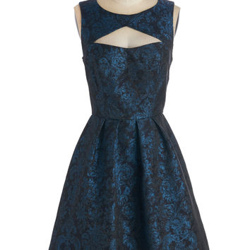 ModCloth Vintage Inspired Mid-length Sleeveless Fit & Flare Toast-Worthy Talent Dress