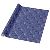 Blue Diamonds Glossy Wrapping Paper by Janz