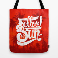 Follow the Sun Tote Bag by Roberlan Borges
