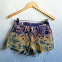 Summer SALE Ombre Denim Shorts Northern Lights Small
