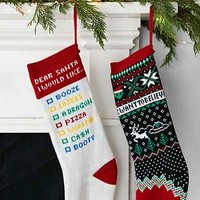 Funny Holiday Stocking - Urban Outfitters