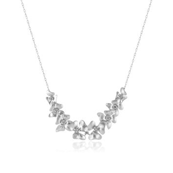 Silver Cascading Flowers Necklace | zulily