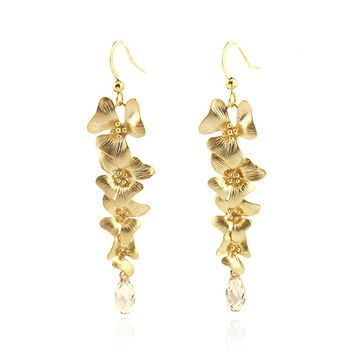 Gold Enchantment Drop Earrings Made With SWAROVSKI ELEMENTS | zulily