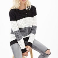 Striped Waffle Knit Sweater