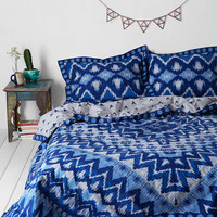 Magical Thinking Kasuri Medallion Duvet Cover-