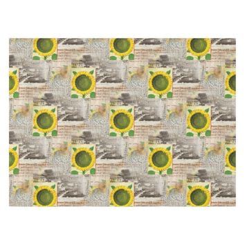Sunflower Ancient Rome Italian Table Cloth