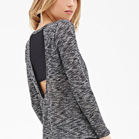 LOVE 21 Two-Toned Paneled Knit Top Black/White