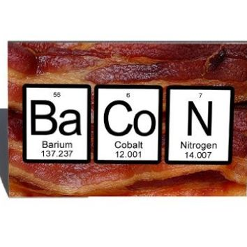 Bacon Periodic Table of Elements Refrigerator Magnet
