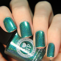 Rehab - Gorgeous Aqua-Green Holographic Nail Polish