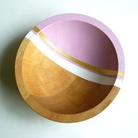 "Graphic Modern Hardwood Small 7"" Bowl, Lilac Purple"
