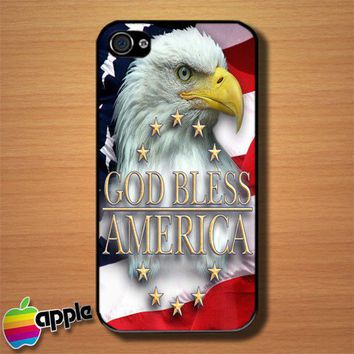 American Patriotic Eagle Custom iPhone 4 or 4S Case Cover
