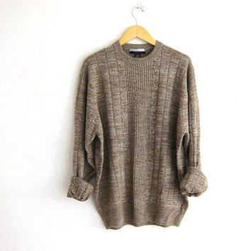 oversized loose fit brown sweater / men's size XL