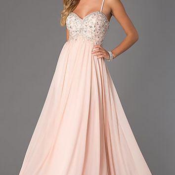 Floor Length Sweetheart Dress by Dave and Johnny