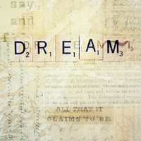 Dream Inspirational Scrabble Letter word Photography Art 8x10 Print