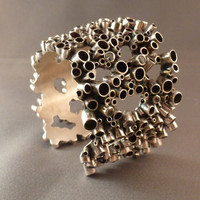 big bubble cuff bracelet