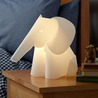 The Land of Nod: Kids&#x27; Nightlights: Elephant Lamp Nightlight in Nightlights