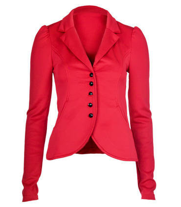 Red Fitted Blazer Jacket - Clothing - desireclothing.co.uk