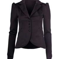Black Fitted Blazer Jacket - Clothing - desireclothing.co.uk