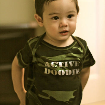 "Funny Onesuit or Shirt: ""Active Doodie"""