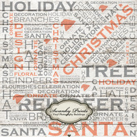 5ft x 5ft Vinyl Photography Backdrop/Christmas/Holiday Text Wood Texture - Other