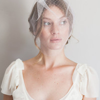 tulle birdcage veil comb #1003