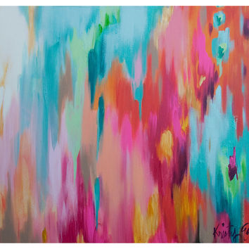 Kristy Gammill, Multicolor Abstract, Paintings